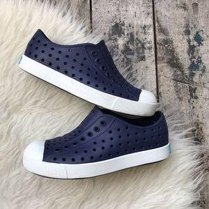 Native blue shoes sz 12 kids